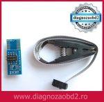 Adaptor programator UPA SOIC8 SOP8, cu cleste  EEPROM 93CXX / 25CXX / 24CXX