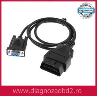 Cablu diagnoza auto OBD2 16 pini , cu extensie DB9F